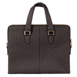 Leather tote, black, pattern