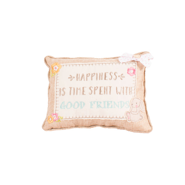'Happiness Is Time Spent With Good Friends' Cushion
