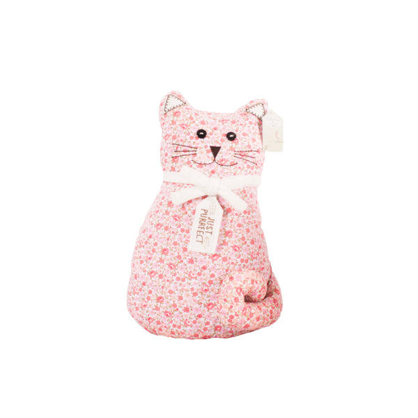 'Just Purrfect' Floral Cat Doorstop