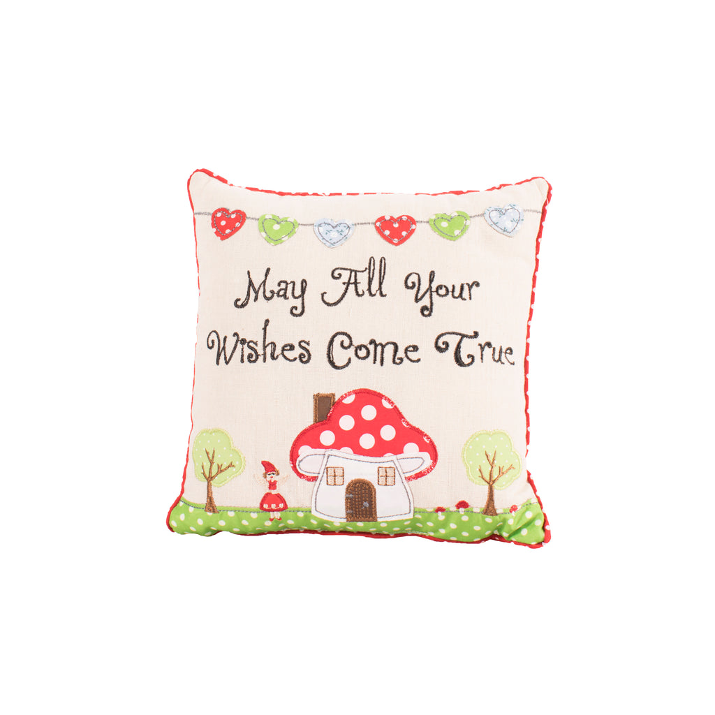 'May All Your Wishes Come True' Fairytale Cushion