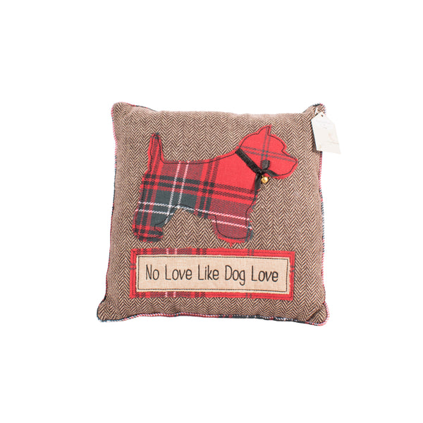 'No Love Like Dog Love' Scottie Dog Cushion