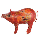 pig, farmyard, red, wax, ornament