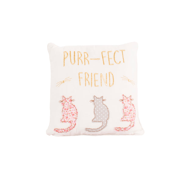 'Purr-fect Friend' Cat Cushion
