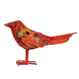 bird, red, wax, garden, ornament