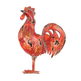 chicken, hen, cockerel, wax, red, garden, ornament