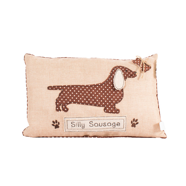 'Silly Sausage' Dachshund Cushion