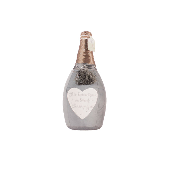 'This Home Runs On Lots Of Champagne' Champagne Bottle Doorstop