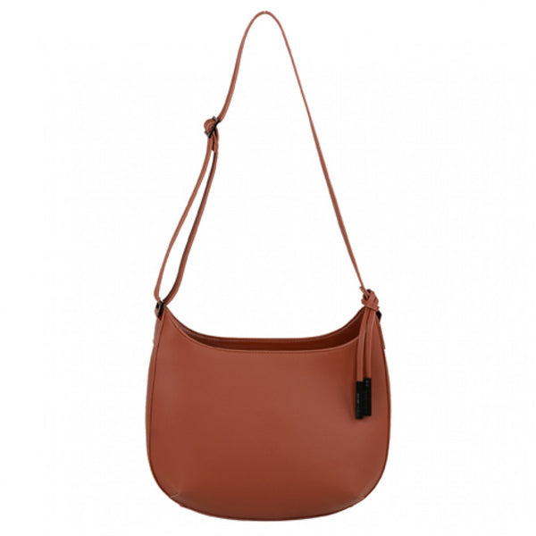 Urban Country Milan Large Scoop Topped Shoulder Bag - Brick (Red)