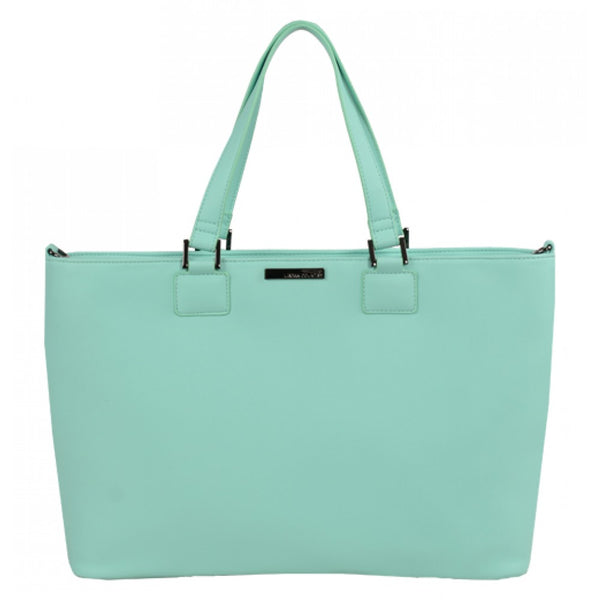 Urban Country Milan Zip Top Shopper Bag - Mint