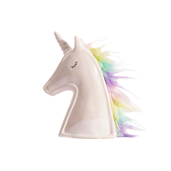 Unicorn Money Box - White