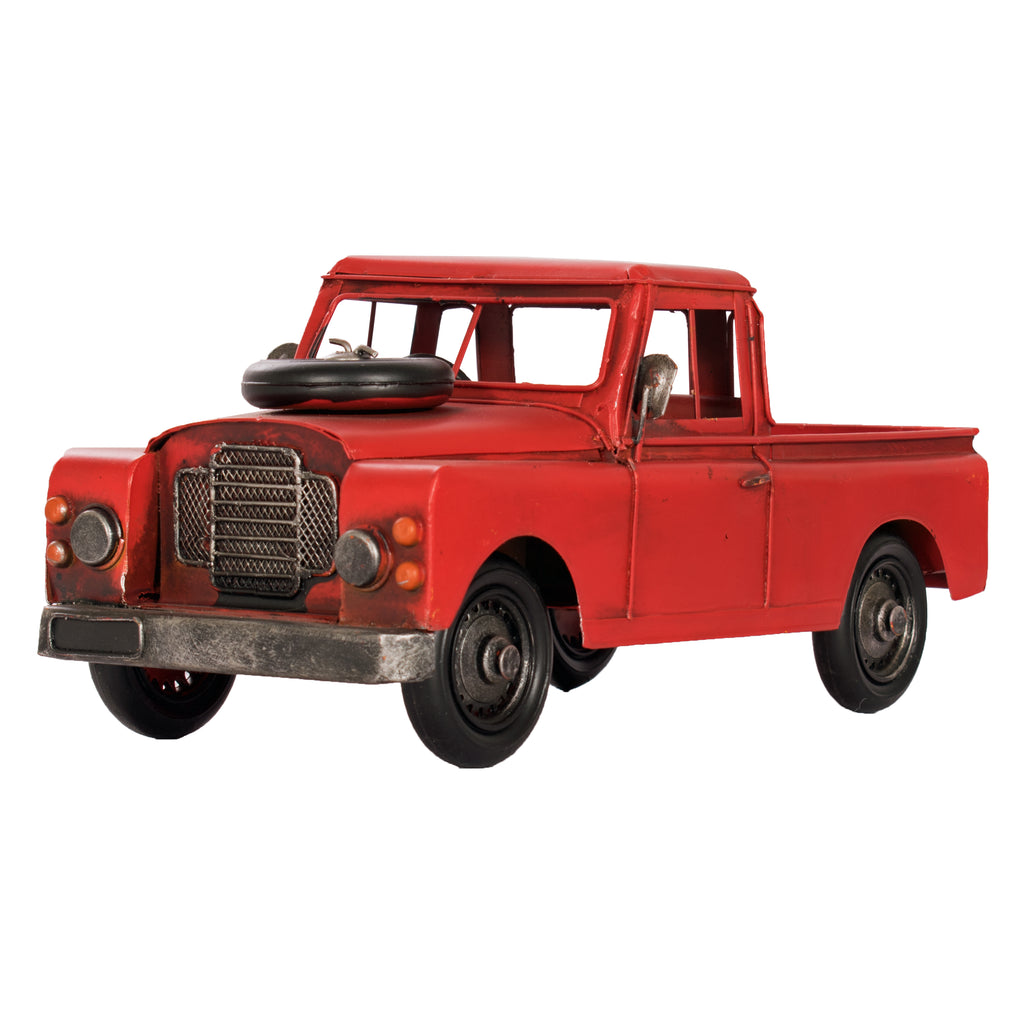 pick up truck, vintage, red, 4 x 4