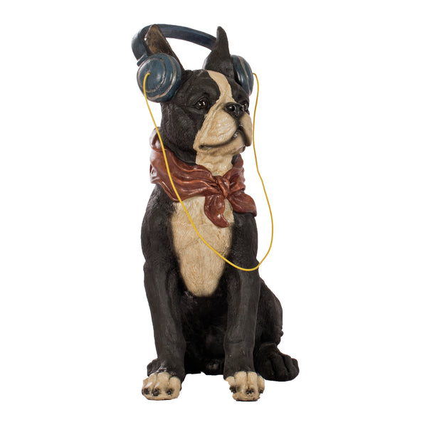 dog, headphones, headset, bulldog, french bulldog