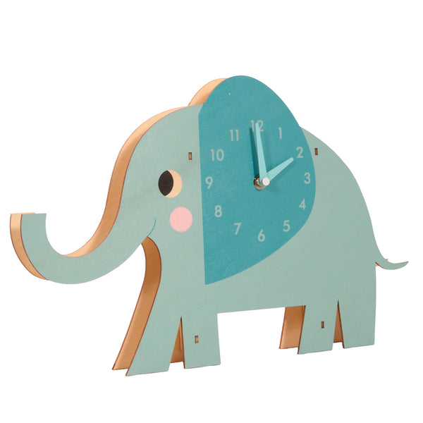 clock, elephant, children,