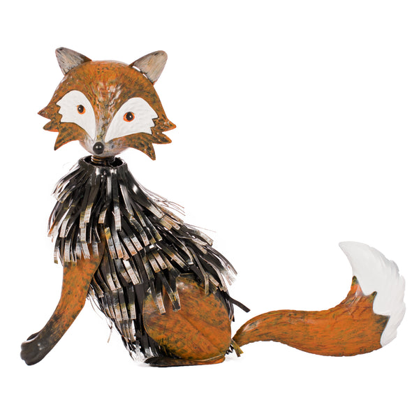 Fox, flayed steel, wobbly head, ornament