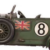 car in racing green, vintage