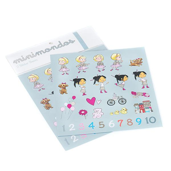 Minimondos Sticker Set - Mia & Sophie
