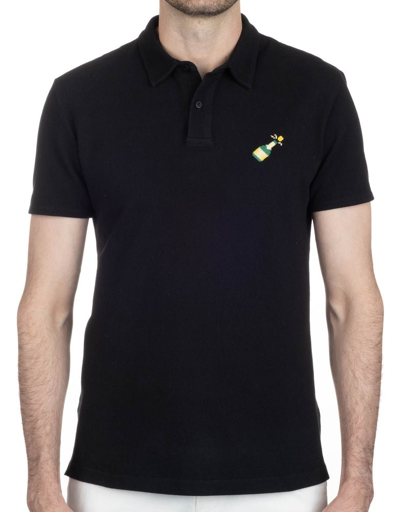 Needlepoint Champagne Polo