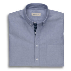 Needlepoint Placket Oxford - Blue Chevron