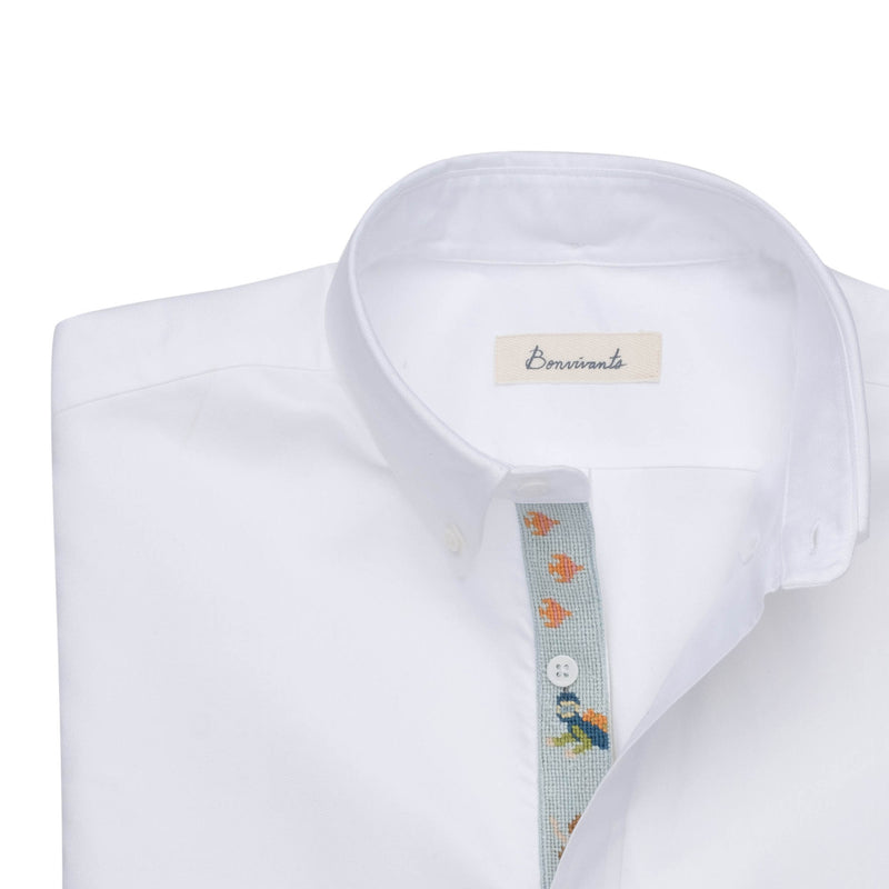 Needlepoint Placket Oxford - Under the Sea