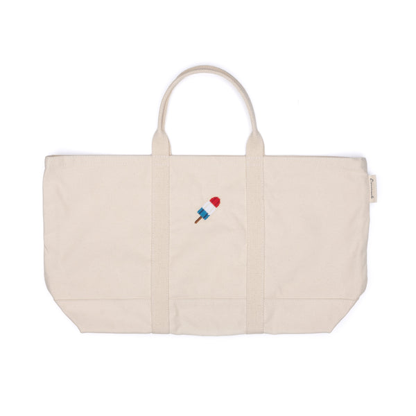 Needlepoint Popsicle Tote Bag