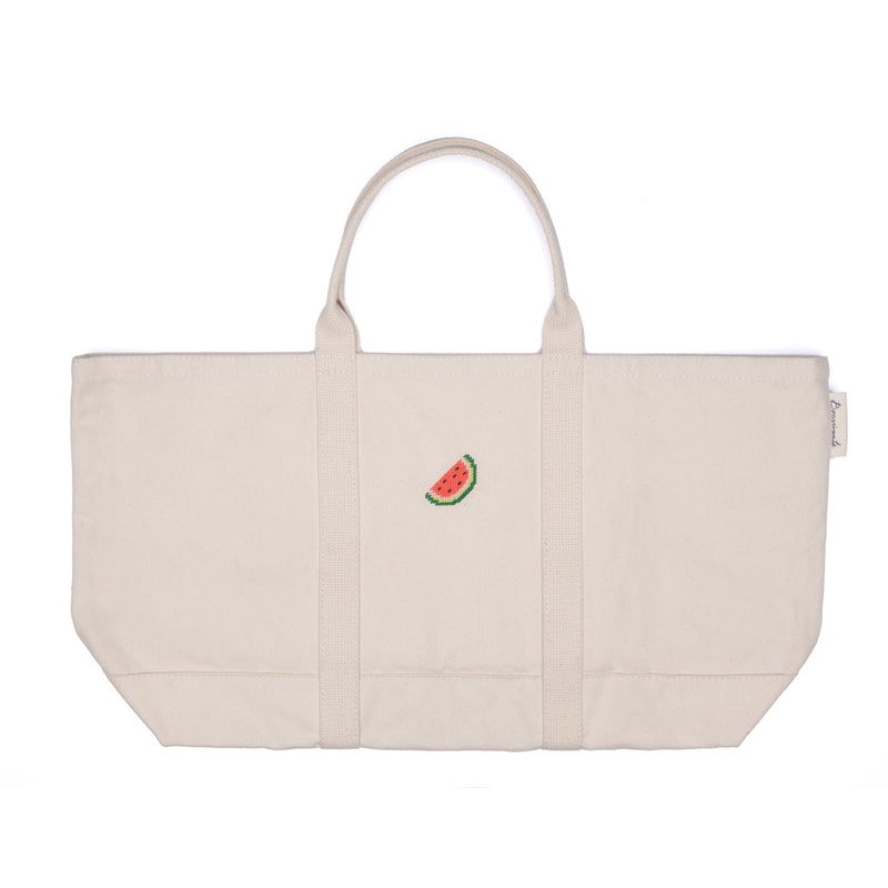 Needlepoint Watermelon Tote Bag