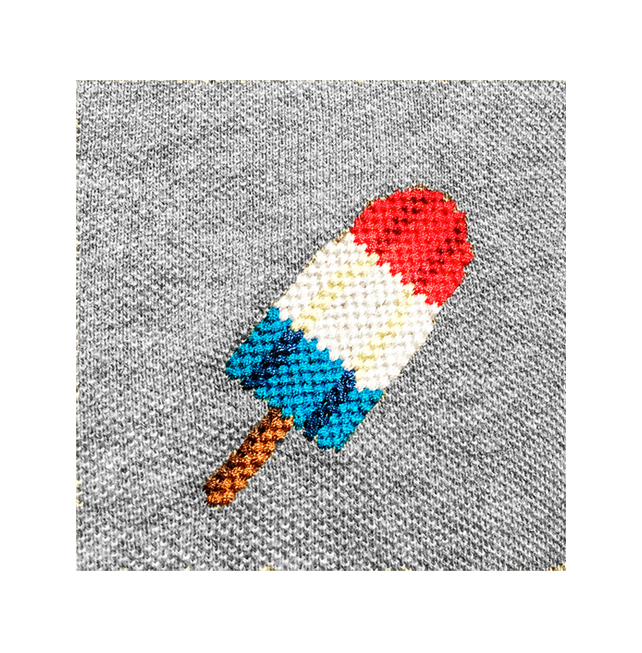 Needlepoint Popsicle Polo