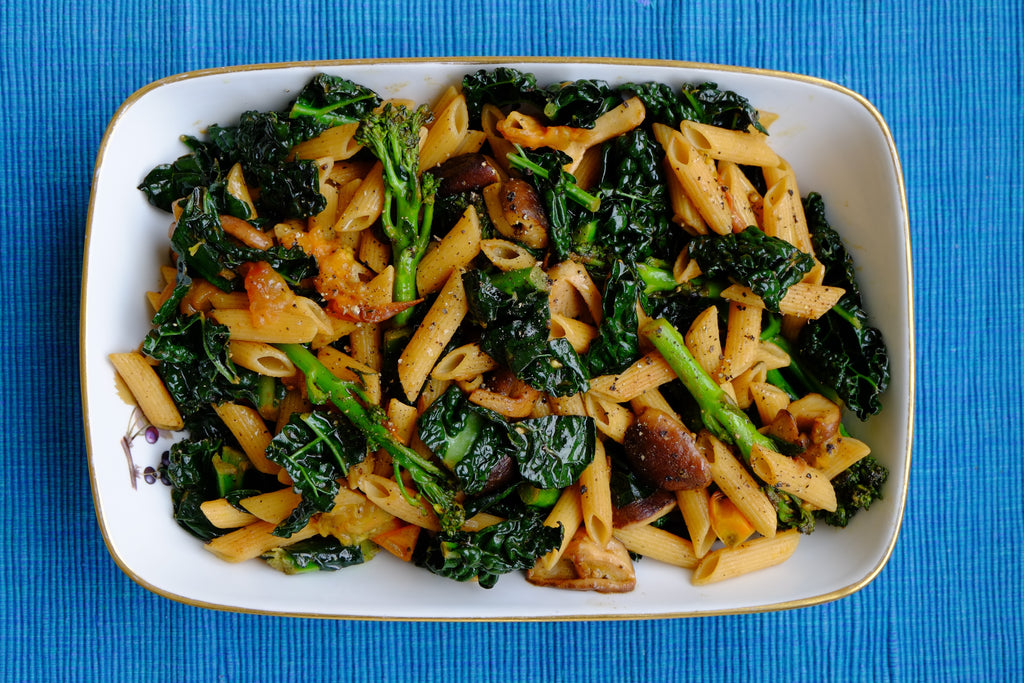 Tenderstem Broccoli, Black Kale & Shiitake Mushrooms