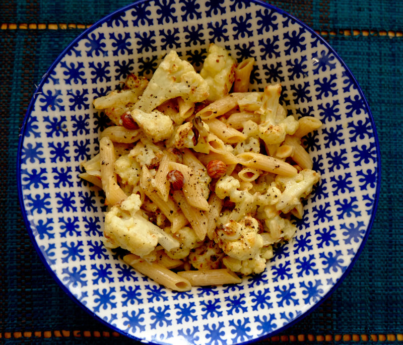 Cauliflower and Hazelnut Carbonara