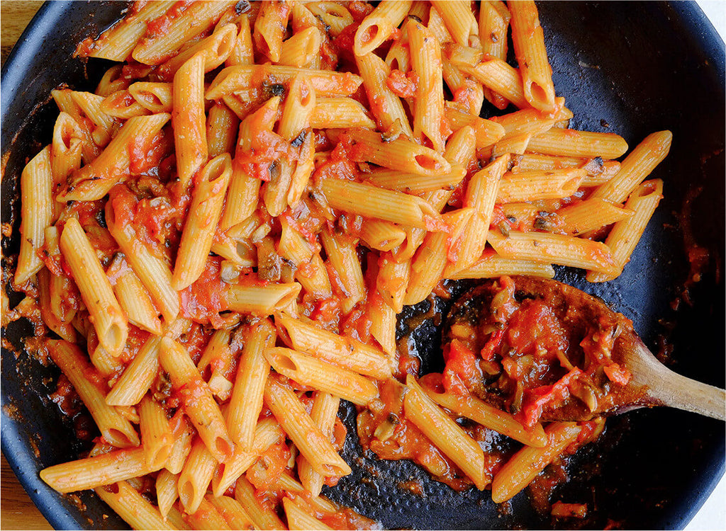 Vegetarian Penne All'Amatriciana