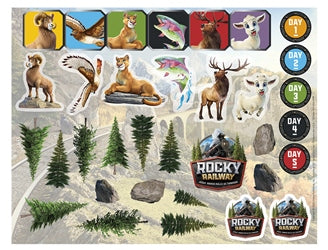 Rocky Railway Sticker Sheets (pkg. of 10 sheets) - 1210000313652