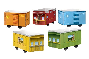 Paper Pop-Up Boxcars (Pkg 2/each of 5 Designs) - 1210000314482