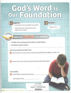 ABC We Can Trust the Bible Grades 3&4 Take Home Sheets -Y1-Q1 - 15-1-014