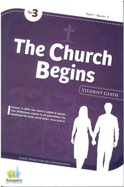 ABC The Church Begins Adult Student Guide - Y3-Q3 - 17-3-031