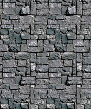 "Stone Wall Plastic Backdrop (4""x30') NonReturnable - 34689009115"
