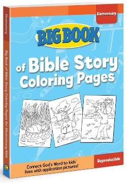 Big Book of Bible Story Coloring Pages for Elementary - 9780830772339