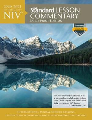 NIV Standard Lesson Commentary 2020-2021 - Large Print - 9780830779062