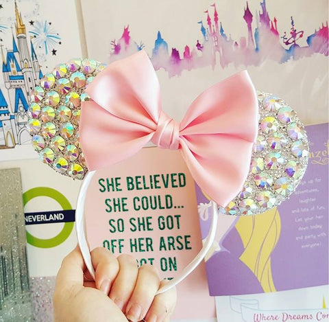crystal minnie mouse ears sparkly headbands