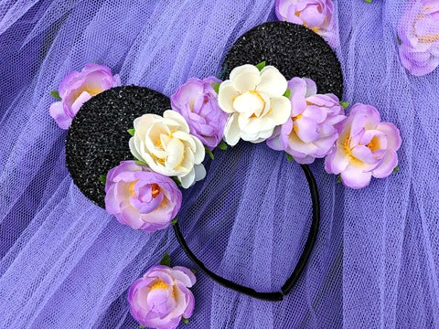floral summer minnie ears