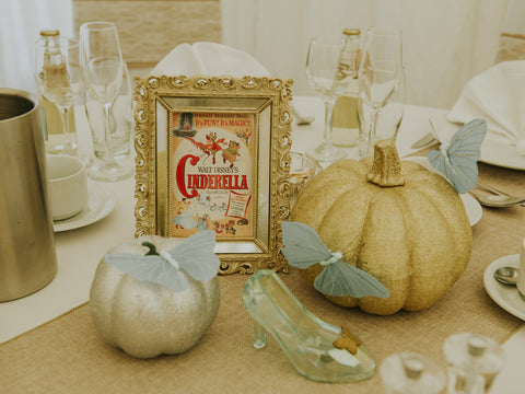 Cinderella Wedding Table Centerpiece ideas