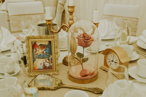 Beauty and the Beast Wedding Center pieces inspiration