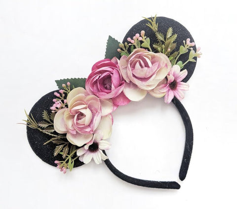 flower crown minnie mouse ears