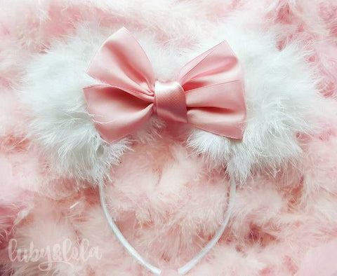 cute fluffy marie aristocats minnie mouse ears by lubyandlola