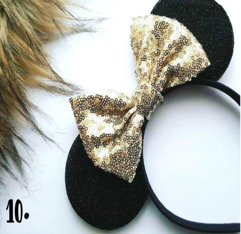 Minne Mouse Ears With Custom Sequin Bow - LubyandLola Top 10 2017 Best Sellers