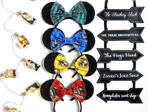 hogwarts bow minnie mouse ears