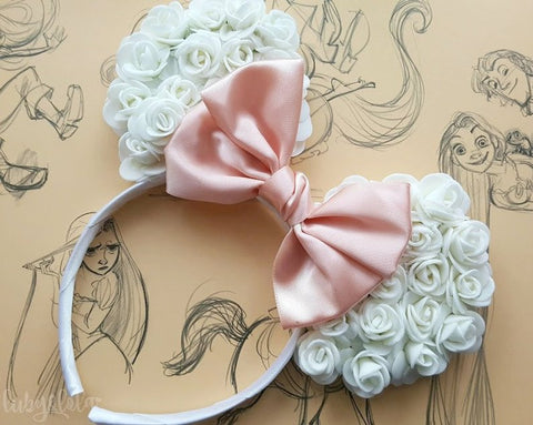 bride to be floral ears