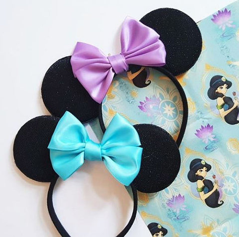 Jasmine Minnie Mouse ears by LubyandLola