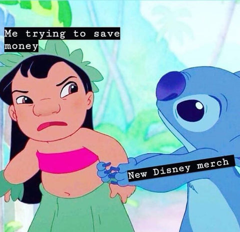 lilo and stitch buy all the disney merch meme