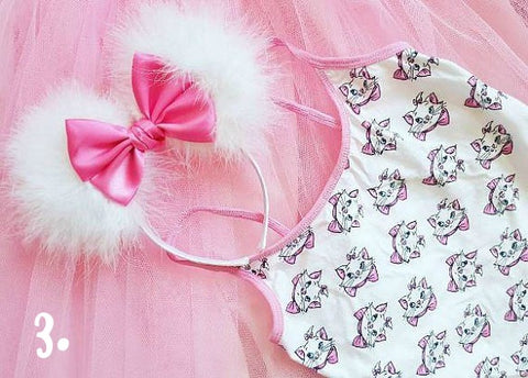 fluffy marie aristocats inspired minnie mouse ears by lubyandlola