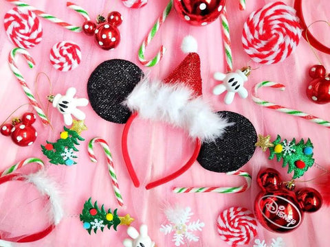 santa mickey ears merry christmas headband luby and lola