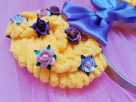 rapunzel plait braids close up flowers ears luby and lola headbands